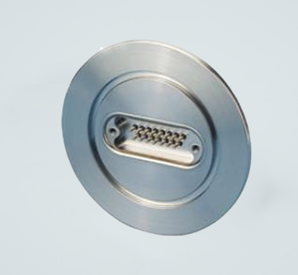 D-type subminiature feedthrough one-15-pin on DN50KF flange
