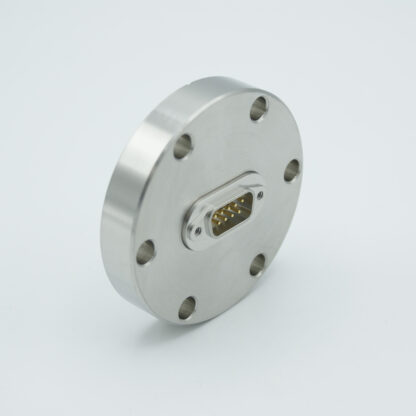 D-type subminiature feedthrough one-9-pin on DN40CF flange