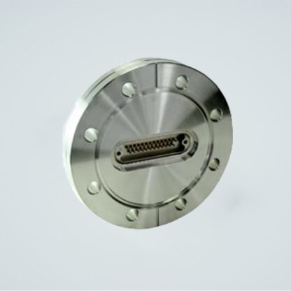 100 pin micro-D high density UHV feedthrough. Gold plated Be-Cu alloy pins. DN63CF flange