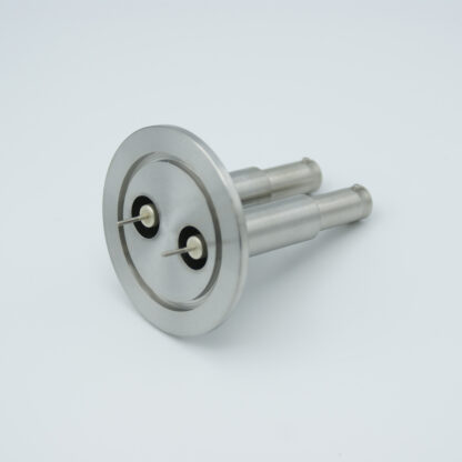 2 of grounded shield recessed SHV-10, 5 Amp 10000 VDC feedthrough, DN40KF