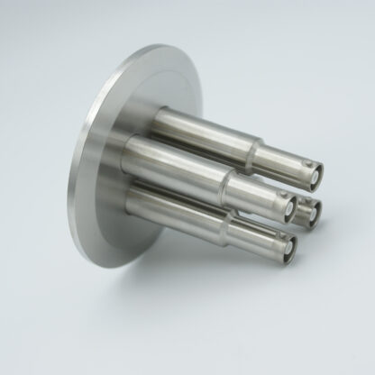 4 of grounded shield recessed SHV-10, 5 Amp 10000 VDC feedthrough, DN50KF