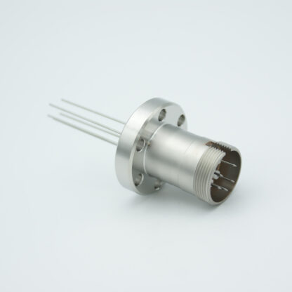 5 pin feedthrough with air-side connector 500Volt / 3,5 Amp, DN19CF flange