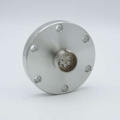5 pin feedthrough with air-side connector 500Volt / 3,5 Amp, DN40CF flange