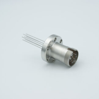 7 pin feedthrough with air-side connector 500Volt / 3,5 Amp, DN19CF flange