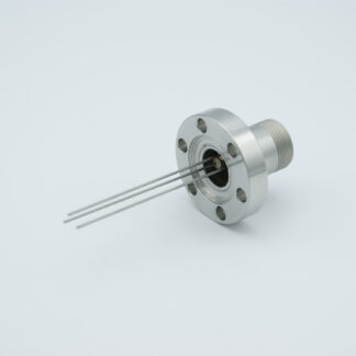 3 pin feedthrough with air-side connector 500Volt / 3,5 Amp, DN19CF flange