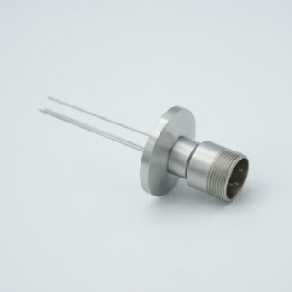 3 pin feedthrough with air-side connector 500Volt / 3,5 Amp, DN16KF flange