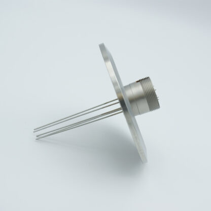 5 pin feedthrough with air-side connector 500Volt / 3,5 Amp, DN50KF flange