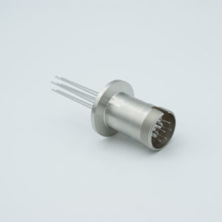 7 pin feedthrough with air-side connector 500Volt / 3,5 Amp, DN16KF flange