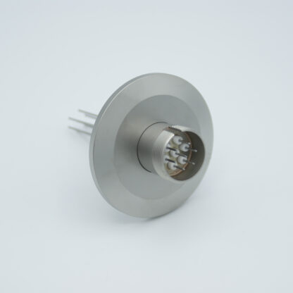 7 pin feedthrough with air-side connector 500Volt / 3,5 Amp. DN40KF flange