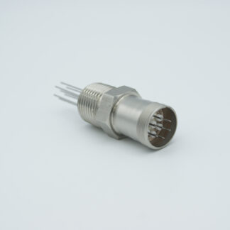 7 pin feedthrough with air-side connector 500Volt / 3,5 Amp. NPT flange