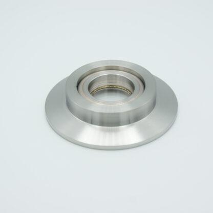 "Tubulated UV-grade Sapphire 1,02"" view diameter, DN50KF"