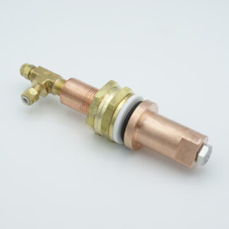 1 pin water cooled feedthrough 50Volt DC Copper conductor, baseplate fitting