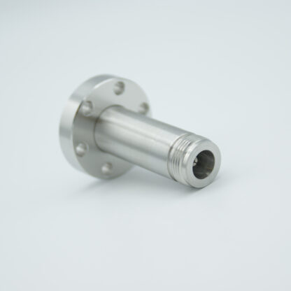 Type-N feedthrough single ended 500VDC / 3 Amp, air side connector included DN19CF flange