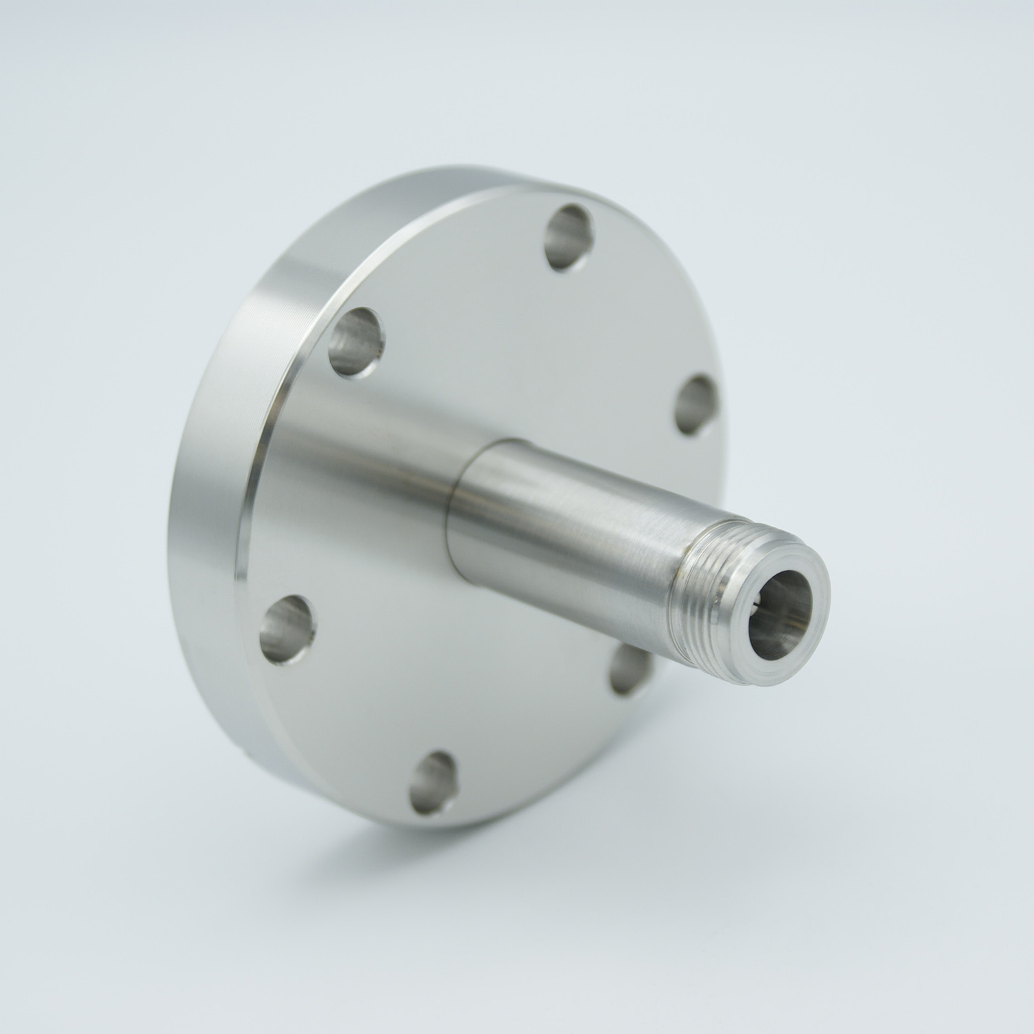 Type-N feedthrough single ended 500VDC / 3 Amp, air side connector included DN40CF flange