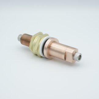 1 pin feedthrough 50Volt DC solid Copper conductor, baseplate fitting