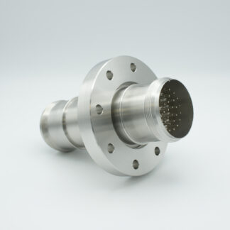 35 pin double ended feedthrough with both side connectors, 700Volt / 10 Amp. DN100CF flange