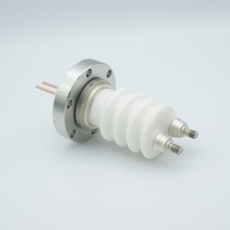 2 pin high voltage feedthrough 30000Volt / 50 Amp. DN40CF flange