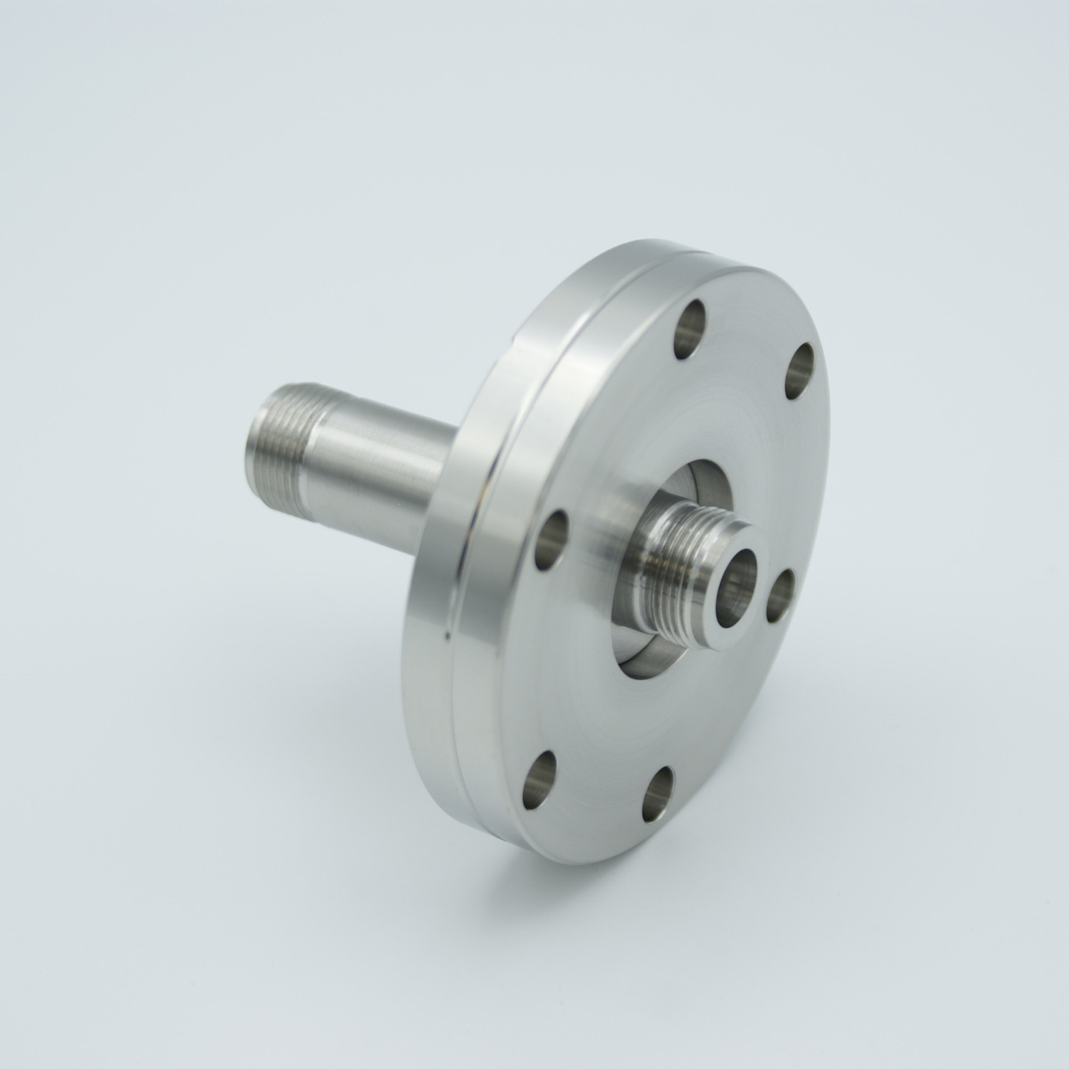 Type-N feedthrough double ended 500VDC, / 3 Amp, air side connector included DN40CF flange
