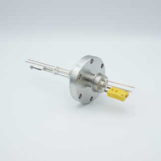 1 pair Thermocouple type-K and 1 pair copper feedthrough 1000V, with TC connectors included, DN40CF flange