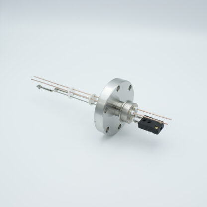 1 pair Thermocouple type-J and 1 pair copper feedthrough 1000V, with TC connectors included, DN40CF flange