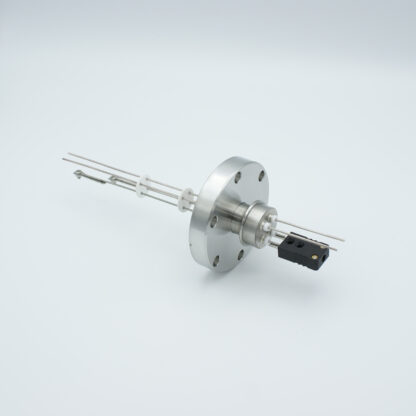 1 pair Thermocouple type-J and 1 pair nickel feedthrough 1000V, with TC connectors included, DN40CF flange