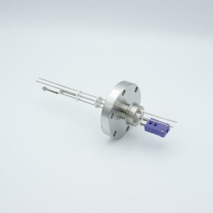 1 pair Thermocouple type-E and 1 pair nickel feedthrough 1000V, with TC connectors included, DN40CF flange