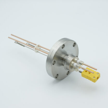 1 pair Thermocouple type-K and 1 pair copper feedthrough 5000V, with TC connectors included, DN40CF flange