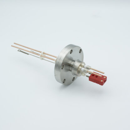 1 pair Thermocouple type-C and 1 pair copper feedthrough 5000V, with TC connectors included, DN40CF flange