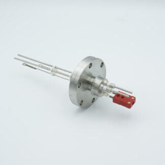 1 pair Thermocouple type-C and 1 pair nickel feedthrough 5000V, with TC connectors included, DN40CF flange