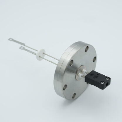 1 pair Thermocouple type-J feedthrough with both side connectors included, DN40CF flange