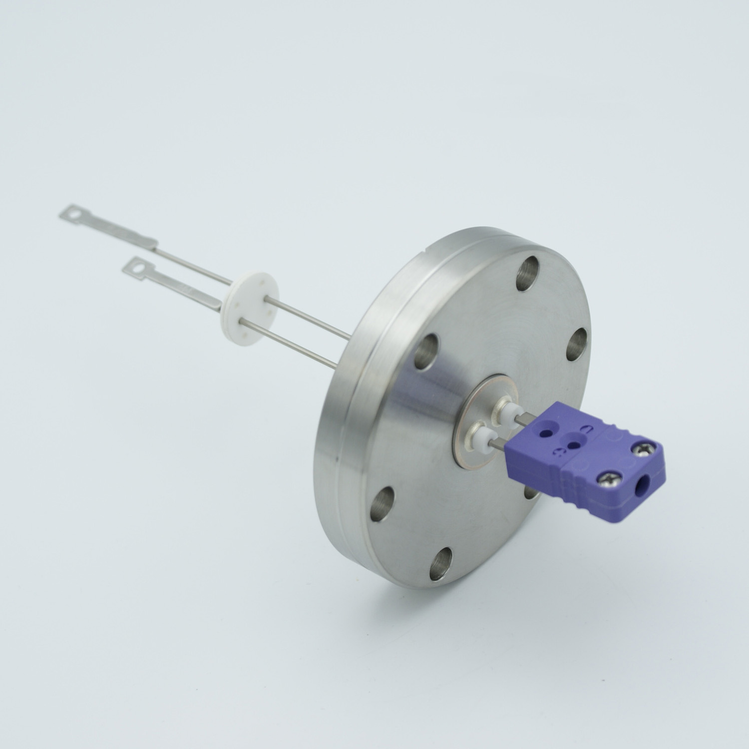 1 pair Thermocouple type-E feedthrough with both side connectors included, DN40CF flange