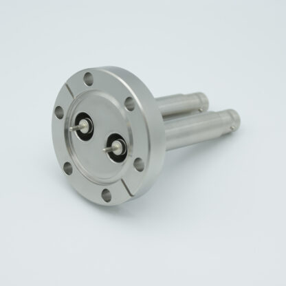 2 of recessed SHV-20, 15 Amp 20000 VDC feedthrough, DN40CF