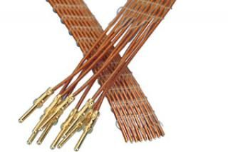 9-wire ribbon cable 100cm long, one side male pins