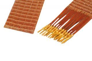 25-wire ribbon cable 48cm long, one side male pins