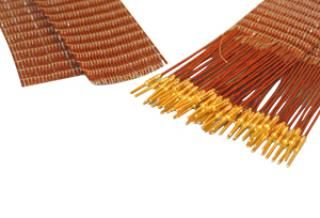 50-wire ribbon cable 48cm long, one side male pins