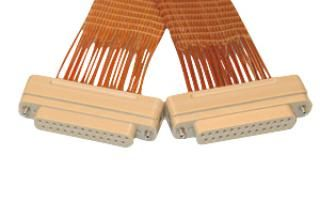37 pin micro-D Vacuum-side connector, Peek insulator with Kapton 24 inch wiring, UHV compatible,