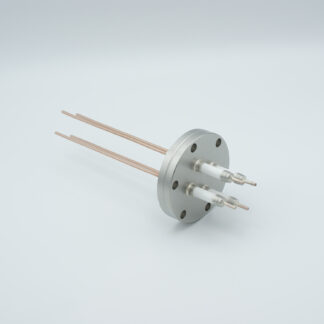 4 pin feedthrough with power glove connector 10000Volt / 30 Amp. Copper conductor, DN40CF flange