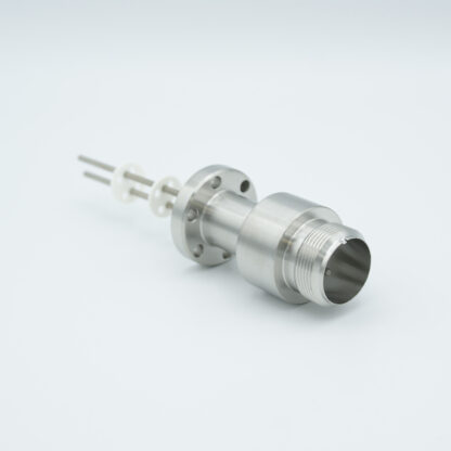 2 pin feedthrough with air side connector and nickel conductor, 700V / 16 Amp, DN19CF flange