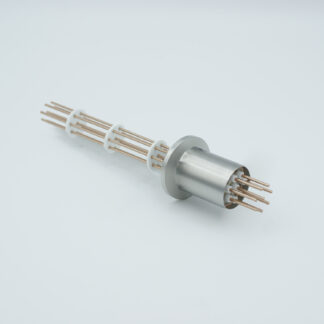 8 pin Copper conductor feedthrough 1000V / 25 Amp. DN16KF flange