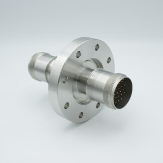 20 pin double ended feedthrough with both side connectors, 700Volt / 10 Amp. DN63CF flange