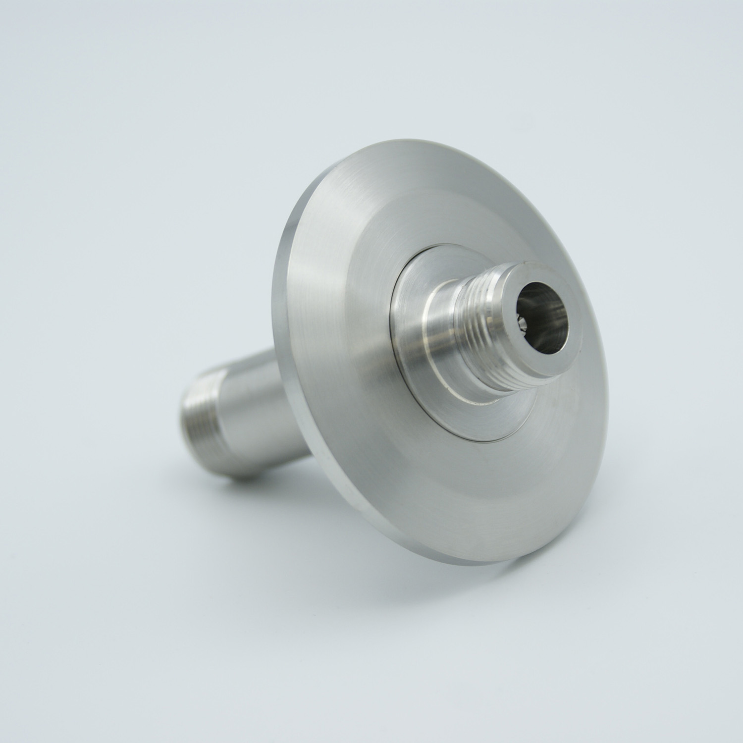 Type-N feedthrough double ended 500VDC, / 3 Amp, air side connector included DN40KF flange