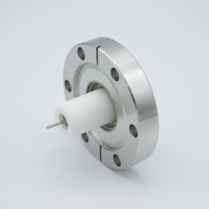 1 pin high voltage feedthrough 40000V / 7 Amp. Copper conductor DN40CF flange with HVL connector
