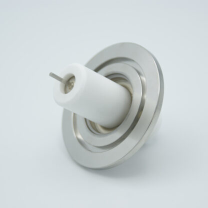1 pin high voltage feedthrough 40000V / 7 Amp. Alumel conductor DN40KF flange with HVL connector