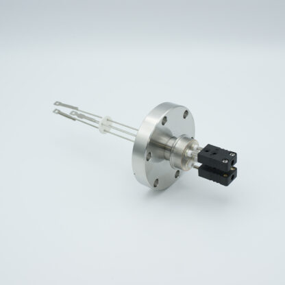 2 pair Thermocouple type-J feedthrough with both side connectors included, DN40CF flange