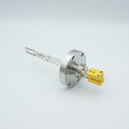 2 pair Thermocouple type-K feedthrough with both side connectors included, DN40CF flange