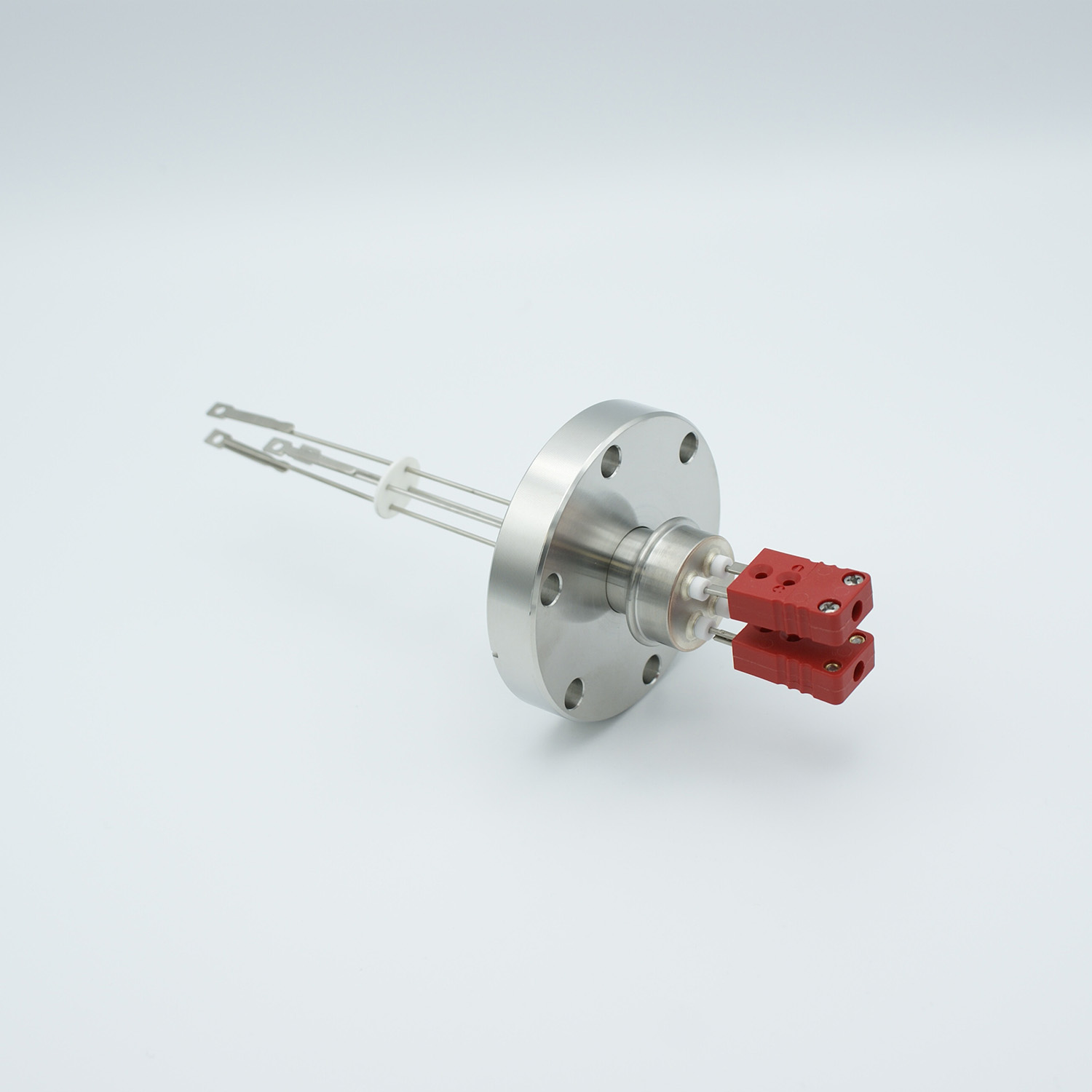 2 pair Thermocouple type-C feedthrough with both side connectors included, DN40CF flange