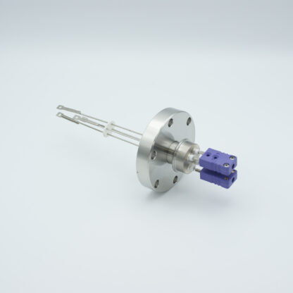 2 pair Thermocouple type-E feedthrough with both side connectors included, DN40CF flange