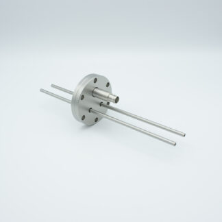 Adapter from single ended BNC to Microdot 500 VDC 2 Amp, including 2 cooling lines, DN40CF