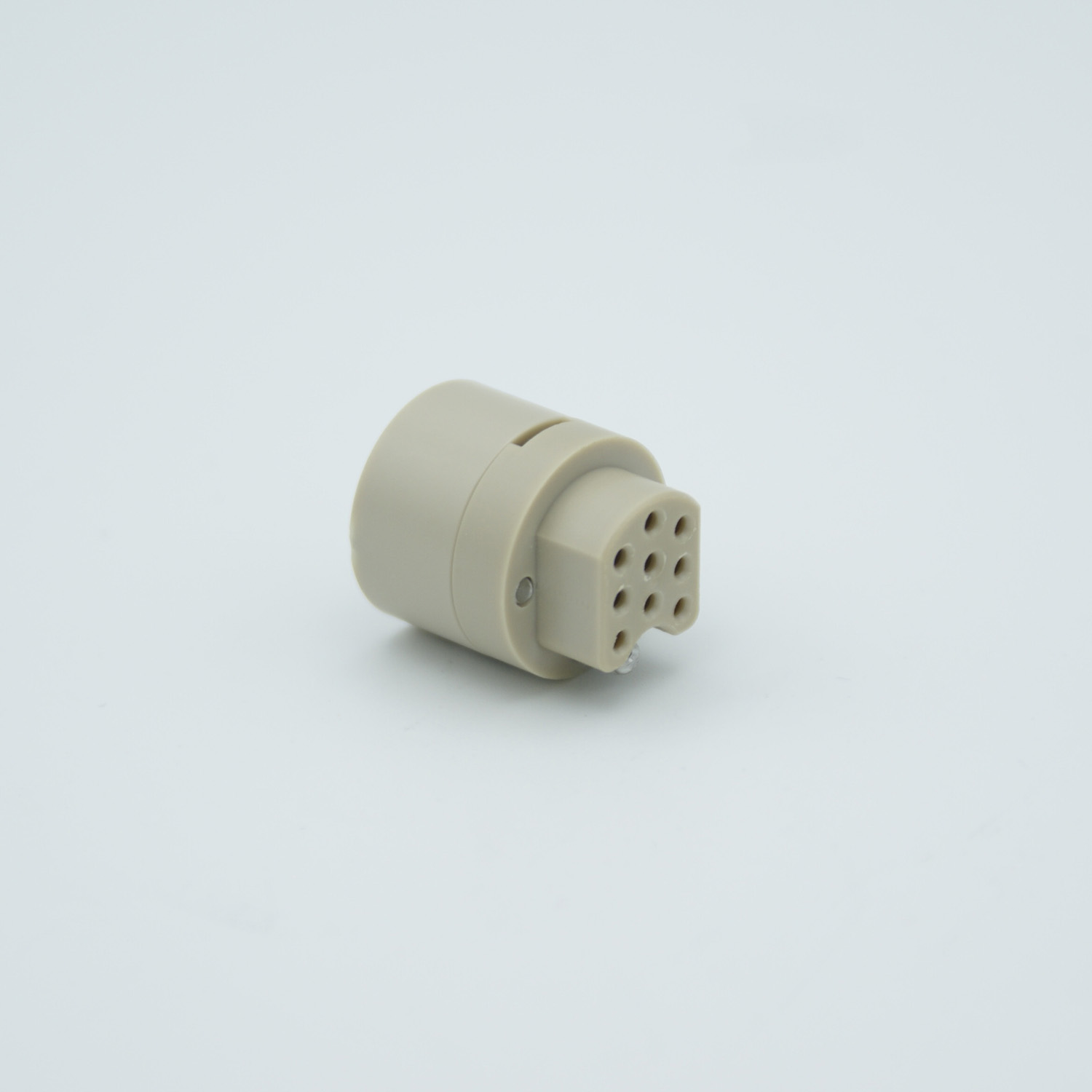 9 pin PEEK-connector for vacuum side, excluding female contacts
