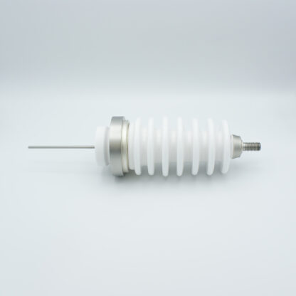 1 pin high voltage feedthrough 60000V / 3 Amp. Stainless steel conductor weld fitting
